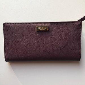 Maroon Kate Spade Bifold Wallet